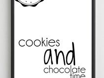 Plakat - COOKIES AND CHOCOLATE - 50x70,7 cm - B2