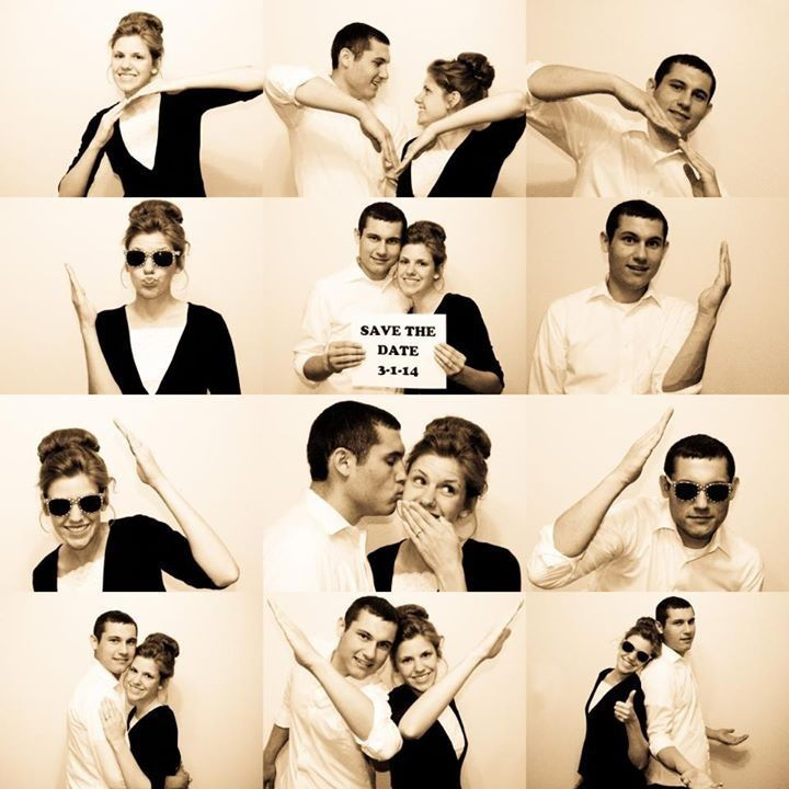On adore le Save the date plein d'amour de ce jeune couple ! Ils ont dû bien s'amuser dans le photomaton pour réaliser ce joli montage très fun ! C'est l'o