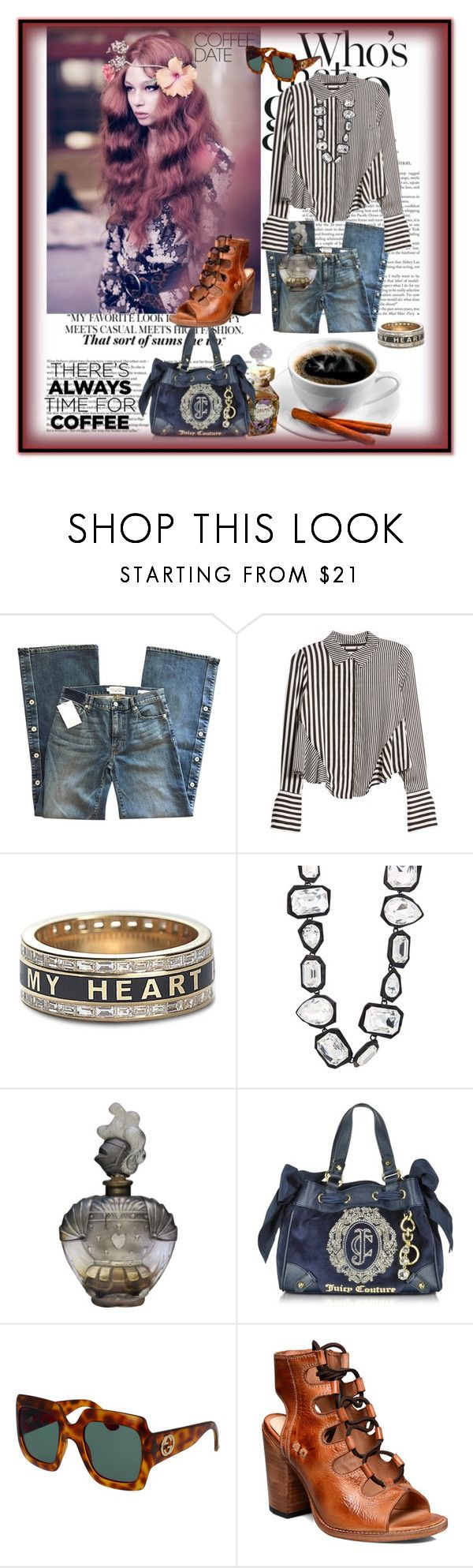 """jasinta-3788"" by jasintasss ❤ liked on Polyvore featuring Nili Lotan, Foundrae, AMBUSH, Juicy Couture, Gucci, Bed