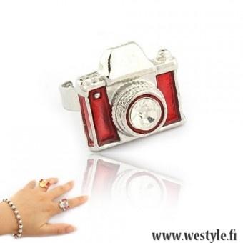 Kameranmuotoinen sormus