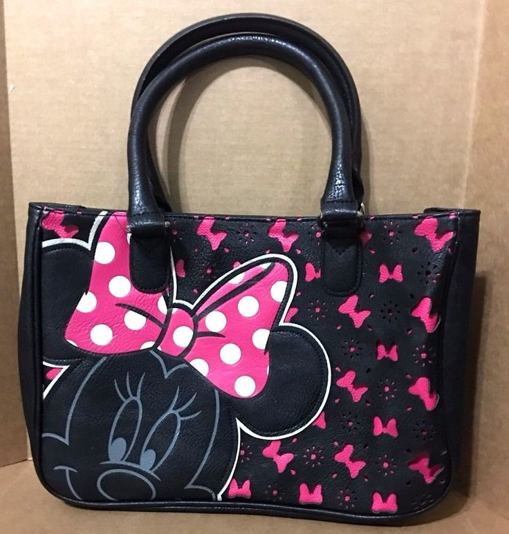 Disney Parks Kingdom Boutique  Black Minnie Mouse With Bows Purse Hot Pink | Collectibles, Disneyana, Contemporary (1968-Now) | eBay!