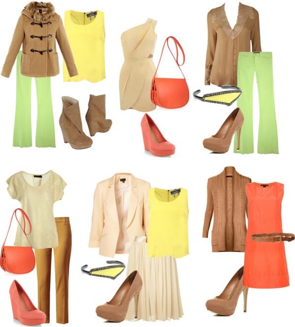Цветотип весна фото примеры одежды