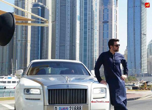 The very handsome Mikaal Zulfiqar shooting for a brand in Dubai   #Pakistan #Dubai #Fashion #MikaalZulfiqar #Style #MensFashion