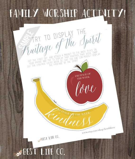 JW Fruitage of Spirit Jehovah's Witness Family Worship Night Ideas Tools Worksheets Goals Sheet Couples