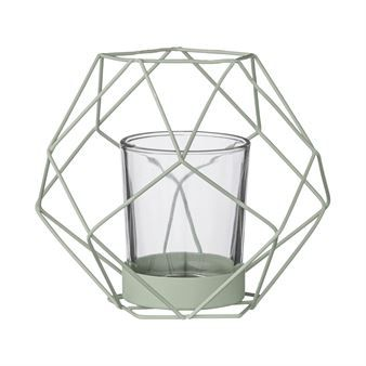 Bloomingville candleholder metal small has a stylish graphic design in lacquered metal wire! Light candles create a homely and warm feeling in your home and you can never get too many candle holders. This one is available in several colors and is easy to match with other interior products from Danish Bloomingville.