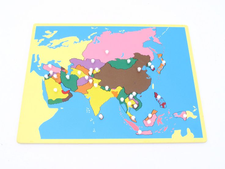 Board Map of Asia