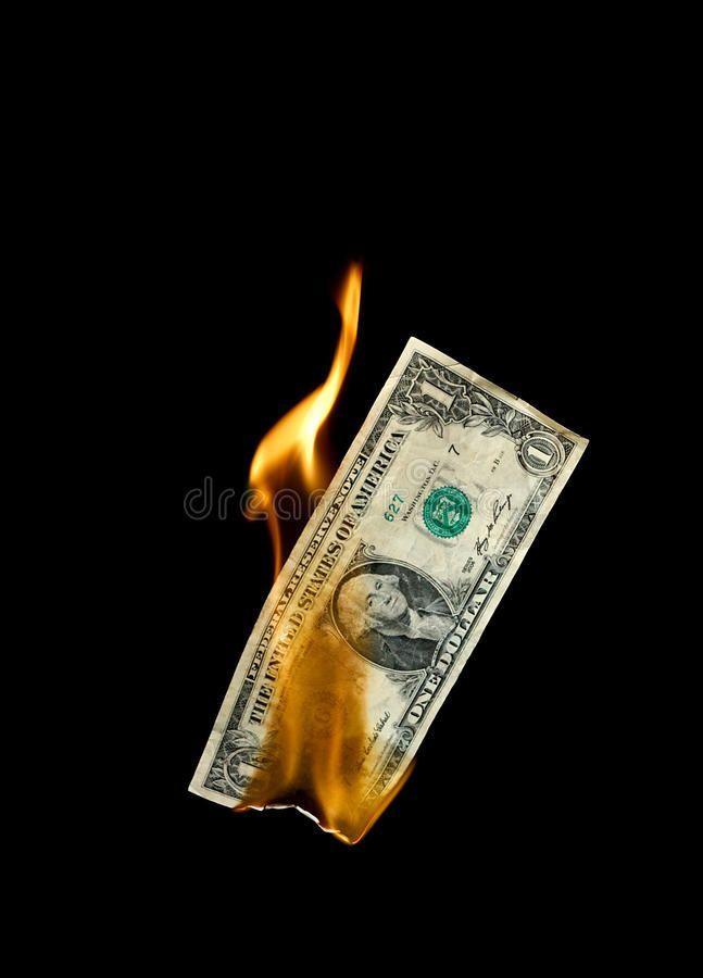 Burning Money A Burning Dollar Bill Symbolising Careless Money Management And T Ad Dollar Bill Burning Money Management Money Tattoo Dollar Tattoo