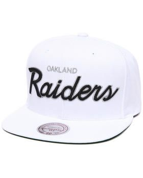 718a3687381 ... coupon code for mitchell ness oakland raiders nfl throwbacks all white snapback  hat. get it