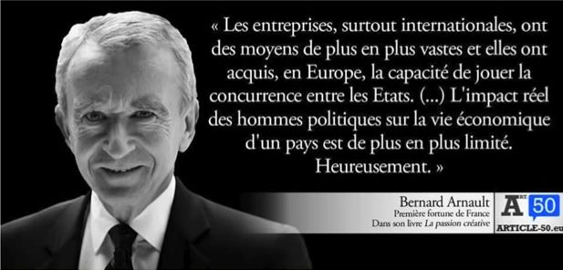 Bernard Arnault, 1ère fortune de France et grand démocrate