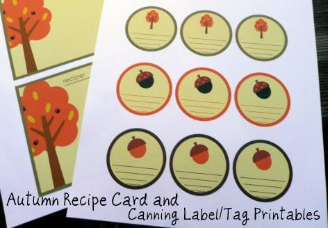 Gwenny Penny: Printable: Autumn Recipe Cards & Canning Labels/Tags