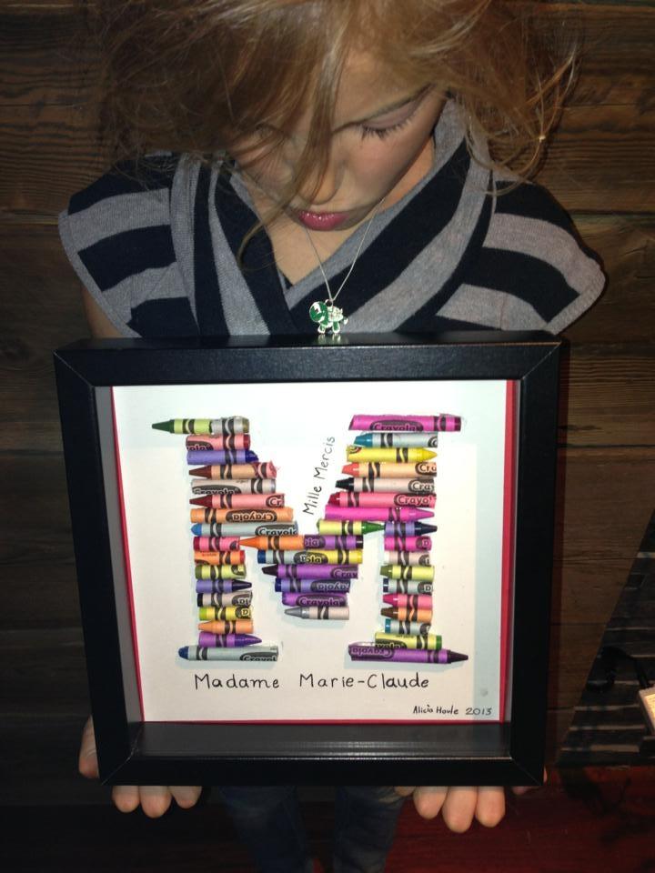 Mille Mercis Madame Marie-Claude.  Un beau cadeau pour Madame la professeure ! :-)  Teacher gift
