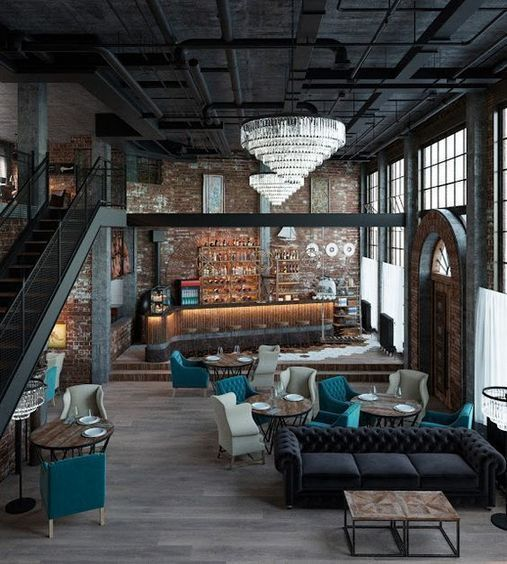 Creatively industrial interior design ideas for house or office [11