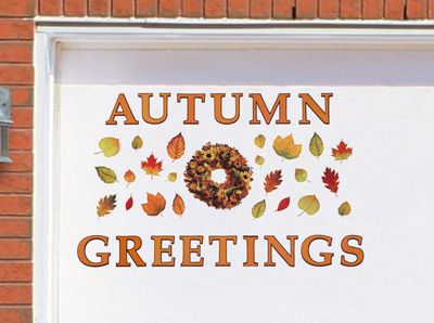 Autumn Greetings Garage Magnet Set Harvest Outdoor