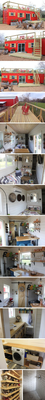 Маленький дом Rustic Retreat XL от Backcountry Containers #tinyhomesdigest #tinyhouse #smallhouse #ecohouse