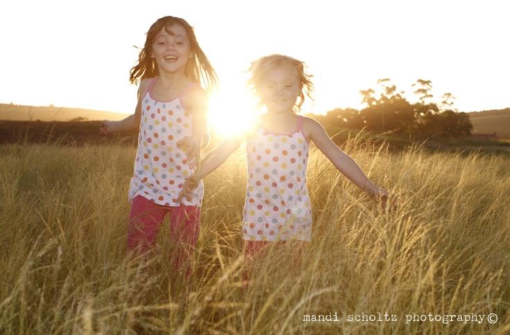 happy kids running in sunset    www.mandischoltz.co.za