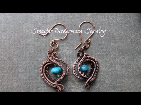 Super easy and fast wire weave earrings tutorial - YouTube
