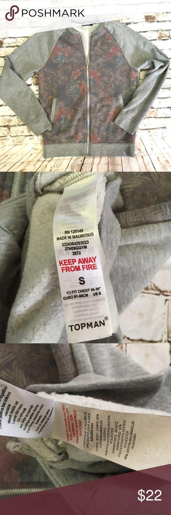 Topman small full zip bomber style cardigan Slightly fading Topman Jackets & Coats Bomber & Varsity
