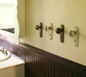 Love old door knobs!