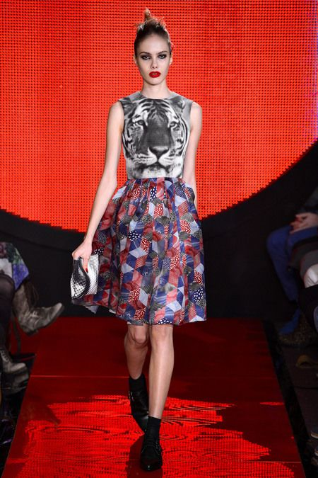 Patchwork cats from Holly Fulton #LFW #F2013RTW