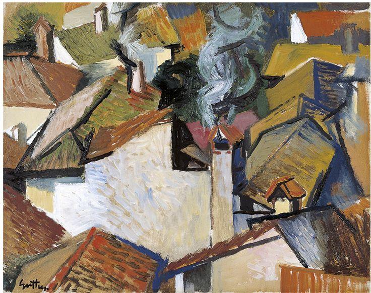 Tetti di Velate, 1960, Renato Guttuso. Italian (1912 - 1987)