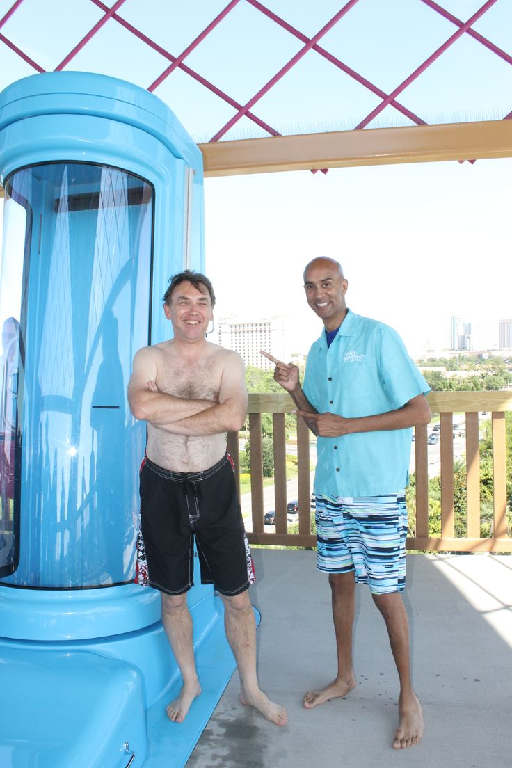 Bryan Nadeau, Vice President of Aquatica and Simon Veness at Ihu's