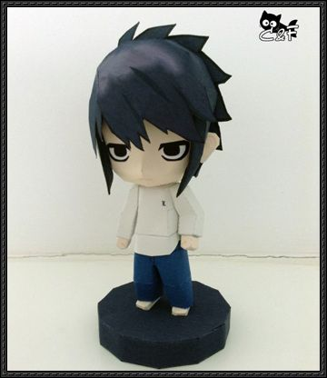 This figure papercraft is a chibi L (L Lawliet), a world-renowned detective who takes on the challenge of catching the serial killer known only as Kira, fr