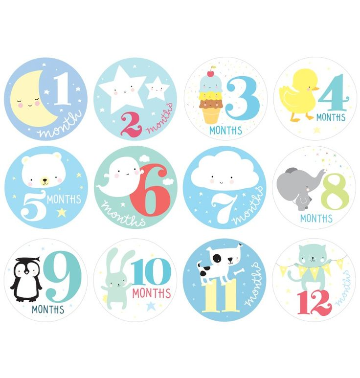 Milestone stickers: Little boys