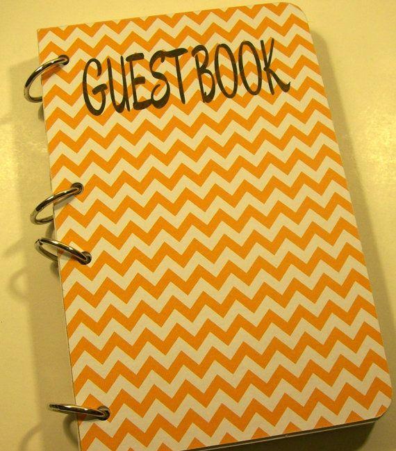 Orange Chevron guestbook