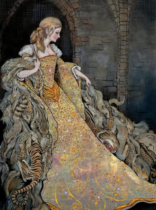 Illustrations by Erin Kelso - all her work is beautiful...it reminds me of two of my favorite artists: Gustav Klimt and Odilon Redon