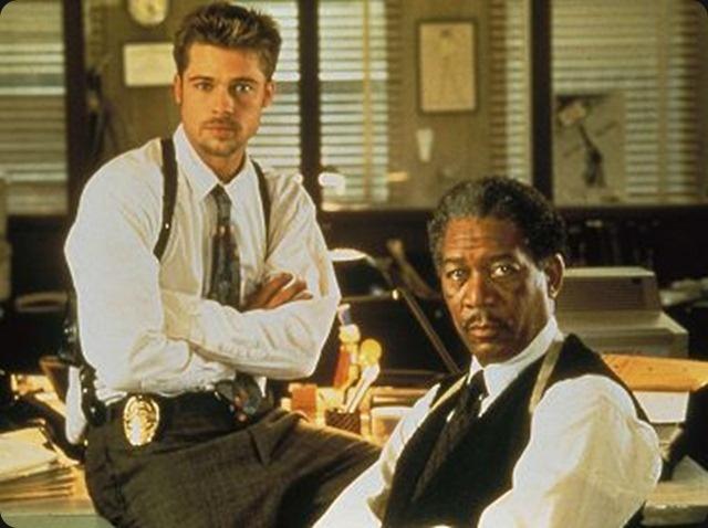Seven (1995) - Dirigida por David Fincher y protagonizada por Brad Pitt y Morgan Freeman.