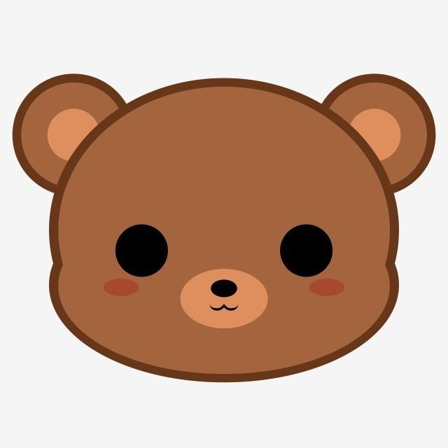 Cute Brown Bear Head Bear Brown Head Png Transparent Clipart Image And Psd File For Free Download Trang Tri Cute Bear Drawings Cute Cartoon Drawings Cute Animal Drawings Kawaii