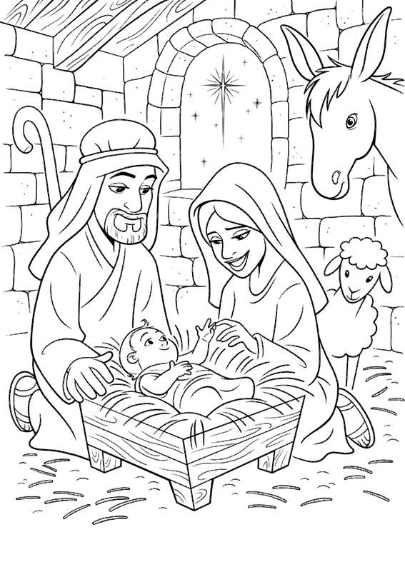 21 Disegni Del Presepe Da Colorare Veronica Nativity Coloring