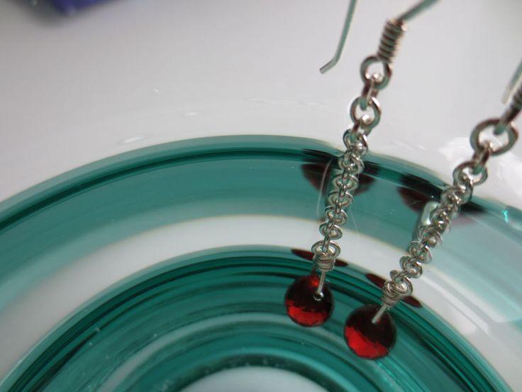 Did I tango all night?   Red cubic zirconia earrings.