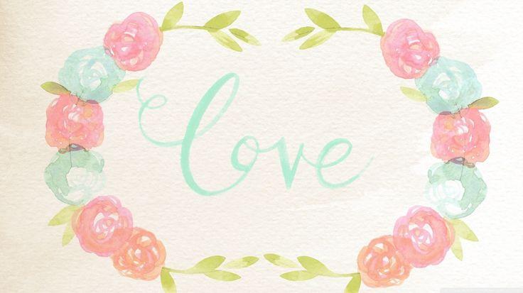 Watercolor love wallpaper