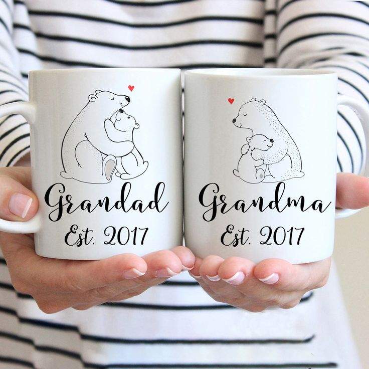 Excited to share these 'New Grandad and Grandma' Mugs, Personalise With The Est. Date, Baby Announcement Mugs, UK http://etsy.me/2C1kTCi