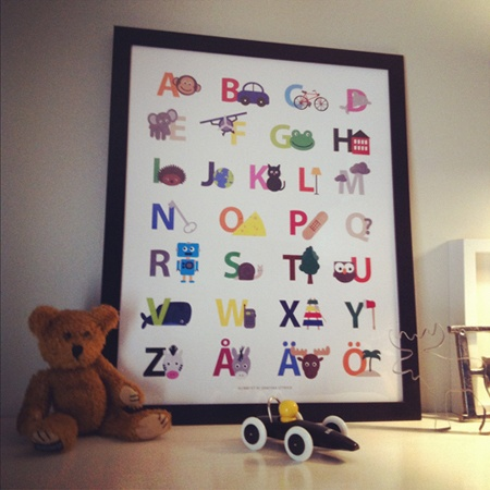 ABC poster (Swedish), 299 kr (SEK), buy it here: http://adorna.se/products/4024