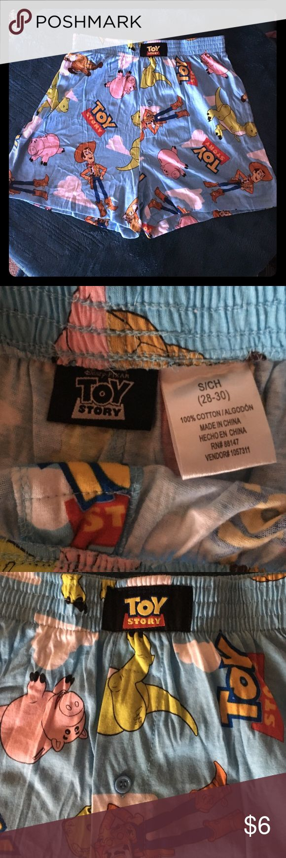 NWOT Toy Story Men's Boxers Size small NWOT,never worn or washed,bran new Christmas gift that would never fit my hubs.100%cotton. toy story Underwear & Socks Boxers