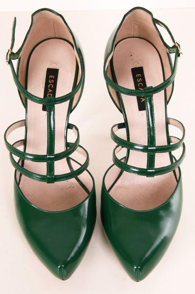 Emerald strap heels