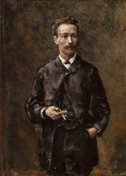 Portret Artura Gruszeckiego, szkic - Aleksander Gierymski