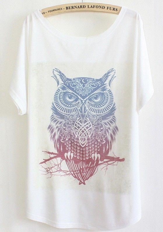 White Print Short Sleeve Dacron T-Shirt