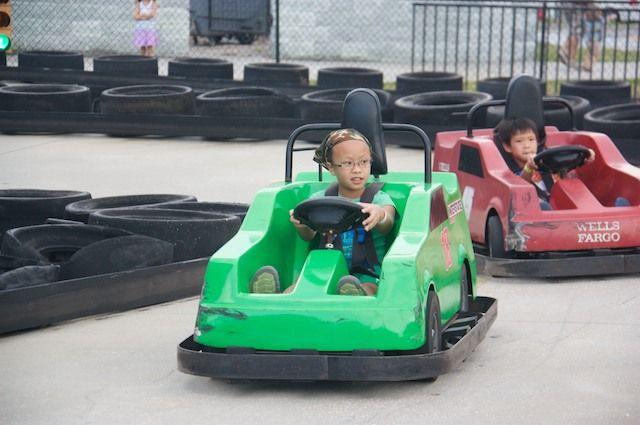 in go karts or bumper cars