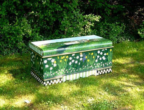 Custom+Hand+Painted+Cedar+Chest+with+Gardens+and+by+mfeganart,+$500.00