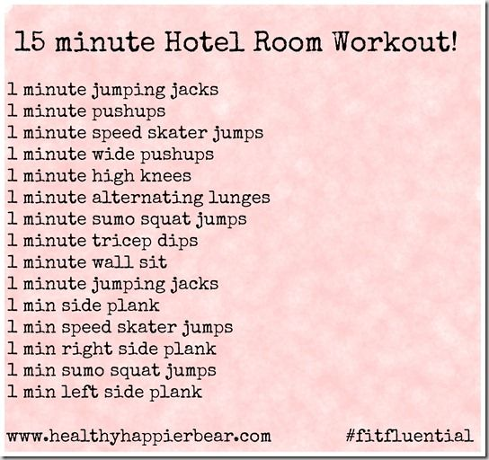 15 minute hotel room workout