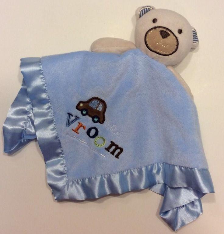 Lovey Circo Teddy Bear Baby Security Blanket Vroom Car