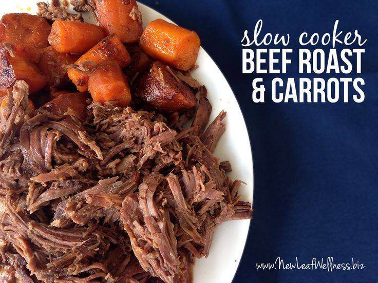 Meet my favorite slow cooker recipe! The beef melts in your mouth and the carrots are oh-so-flavorful. And, with only five ingredients, it's so easy to make! Wait, let me...
