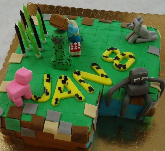 Tort urodzinowy MINECRAFT. #mistrzowiewypiekow #gamer #cake #minecraft #masacukrowa #tort