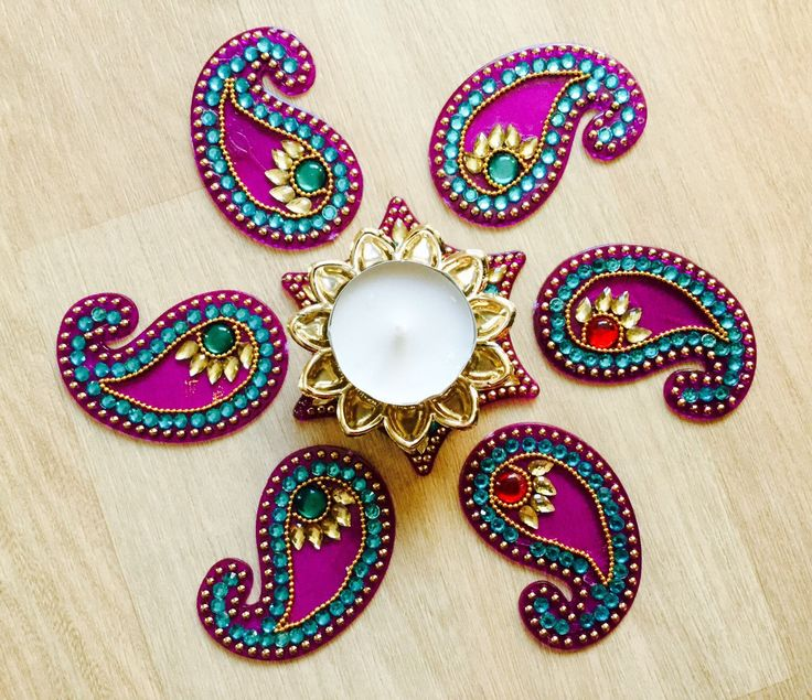 A personal favorite from my Etsy shop https://www.etsy.com/listing/254287204/kundanrhinestone-acrylic-indian-rangoli