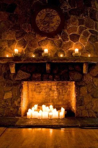 candles cozy fire winter candles on fireplace