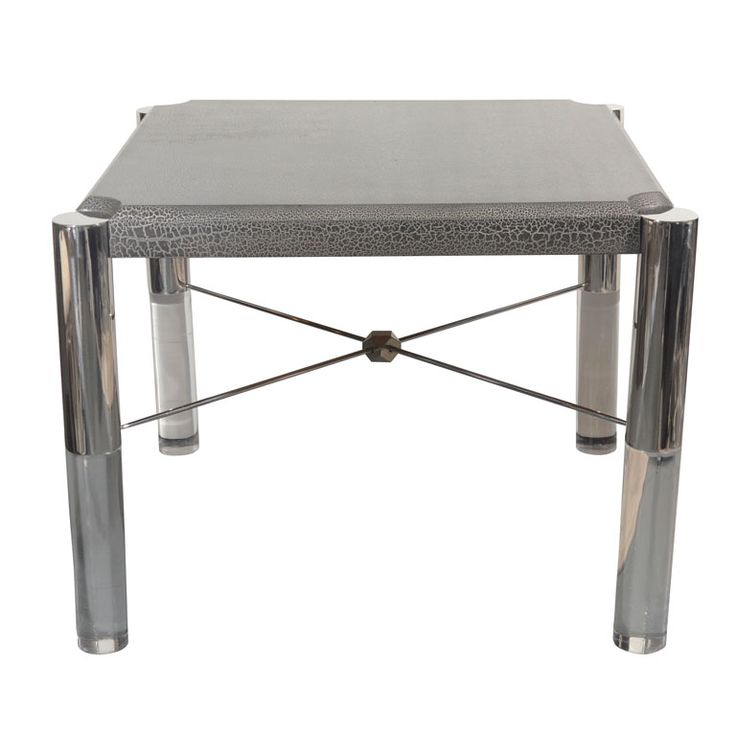 Outstanding Modernist Game Table in the Manner of Karl Springer | From a unique collection of antique and modern game tables at http://www.1stdibs.com/furniture/tables/game-tables/