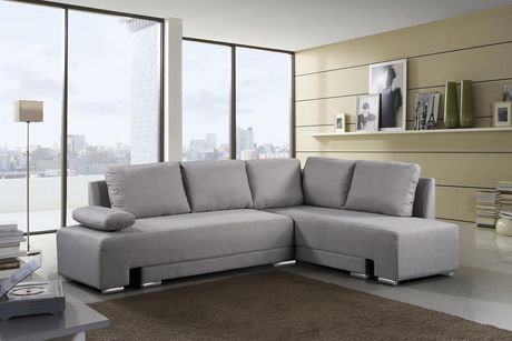 Velago Villars Modern Convertible Sleeper Sectional Sofa Grey In 2019 Sectional Sleeper Sofa Sectional Sofa Sofa